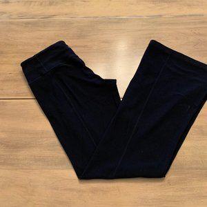 Lululemon SZ 6  yoga pants black wide legs